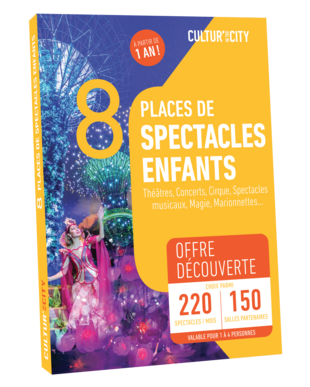 8 places Spectacles pour Enfants Découverte (Cultur'In The City)