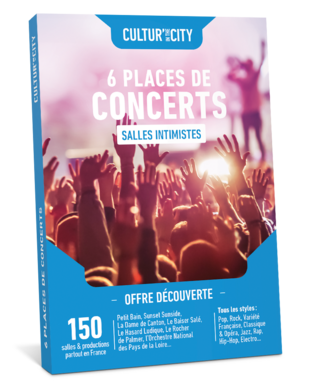 6 places de Concerts Découverte (Cultur'In The City)