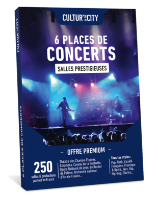 6 places de Concerts Premium (Cultur'In The City)