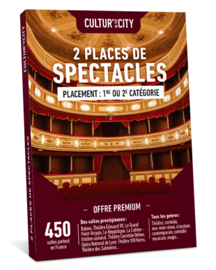 2 places de Spectacles Premium (Cultur'In The City)