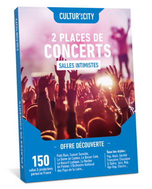 2 places de Concerts Découverte (Cultur'In The City)