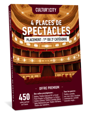 4 places de Spectacles Premium (Cultur'In The City)