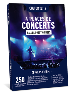 4 places de Concerts Premium (Cultur'In The City)