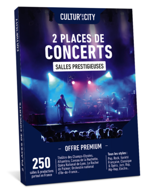 2 places de Concerts Premium (Cultur'In The City)