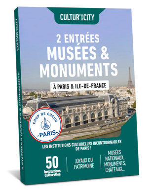 2 entrées Musées & Monuments à Paris (Cultur'In The City)